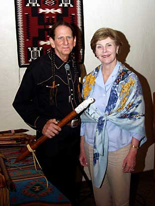 DAVID NIGHTEAGLE WITH FORMER FIRST LADY LAURA BUSH